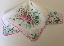 Beautiful New LuRay Spring Floral Bouquet Handkerchief Hankie! Retired Design