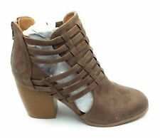 Qupid Womens Maze-93 Ankle Boot Taupe Size 7 M US