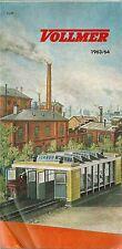 Catalogue VOLLMER 1963 HO Modélisme ferroviaire train katalog catalogo train