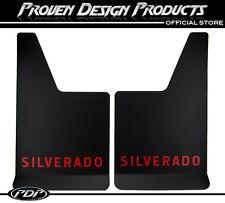 Chevrolet Silverado 1500 HD, 2500 HD Mud Flaps, Chevy Silverado MUDFLAPS_ RED