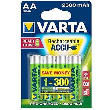 4 AKKUS AA VARTA  max.:2700 mAh min.: 2600 mAh - Power Accu  AKKU LR6