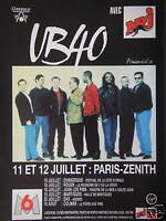 PUBLICITÉ 1994 UB 40 AVEC NRJ PARIS ZENITH - ADVERTISING
