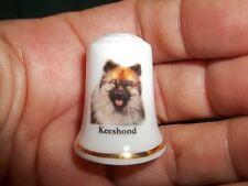 New listing vintage Keeshond Dog Collectible ceramic Thimble figurine Lim.Edition