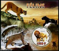 Wild Cats MNH SOUVENIR FEUILLE ET MINI 2012 Mali LION LYNX PUMA Panthère