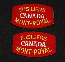 Cloth Shoulder Flashes-Fusiliers Mont-Royal Canada