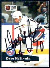 Dave McLlwain New York Islanders '91 ProSet Signed Card