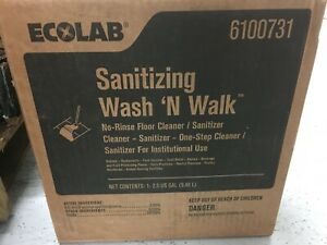 Ecolab 6100731 Sanitizing Wash 'N Walk No Rinse Floor Cleaner. 2.5 Gal