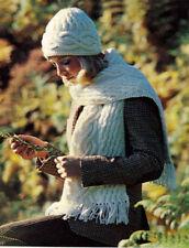 Aran Hats/Scarfs/Mittens Crocheting & Knitting Patterns