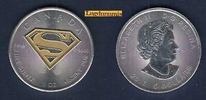 Canada - 5 Dollars 2016 Superman Couleur Color 1 once d argent  1 OZ 999% Silver