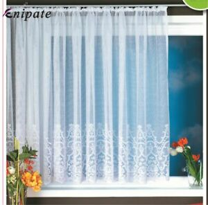 European Style Knitted Door Curtain White Lace Curtains Window Home Decoration