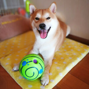 Large Giggle Ball Pet Dog Toys Touch Surprise Rolling Shaken Interactive w Sound