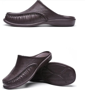 Men Fashion EVA Loafers Half Drag Flats Mules Slip On Party Summer Casual Shoes