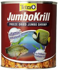 TETRA JUMBO KRILL FREEZE DRIED 14 OZ FISH FOOD JUMBO SHRIMP.FREE SHIP IN THE USA