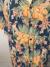 Hawaiian Shirt Mens 100 % Rayon Multi Color Floral   see description