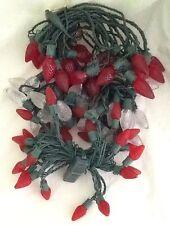 Red & White Super Bright Diamond Cut LED Christmas String Lights 76 Total Lights