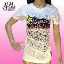 Metal Mulisha Ladies Rockstar Foilage Tee Size M