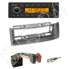 Continental TR7412UB-OR Radio + Renault Megane/Scenic Blende grau + ISO Adapter