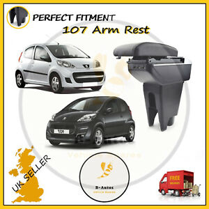 Arm Rest For Peugeot 107 2005-2013  Armrest Dual Layer Storage Box With USB