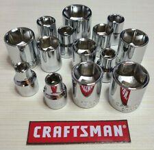 New - Craftsman 6pt Sockets - Metric or SAE - 3/8