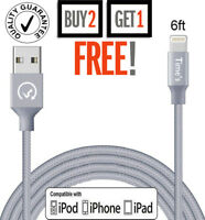 Lightning USB Cord For iPhone 6S 6 5S 7 8 Plus X Data Sync Charger Cable 2m/6Ft