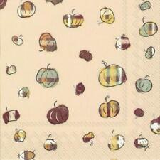 IHR Plaid Pumpkins Autumnal Print Lunch Paper Napkins 20-Pack Disposable 3-Ply