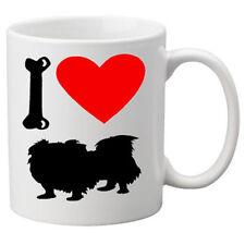 I Love Pekingese Dogs on a Quality Mug. Great Novelty 11oz Mug.