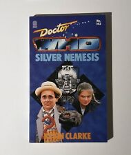 Doctor Who Rare Target Book Silver Nemesis Autographed Very Good Condition