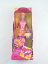 Make A Valentine BARBIE doll Special Edition 1998 Mattel NEW VG+ Box stencil toy
