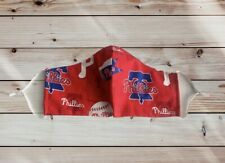New MLB Phillies Fabric Face Masks, Double Layers, Men, Women and Children sizes