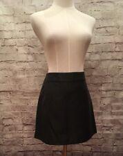 EXPRESS  Women's Size 4  Black Vegan Faux Leather Lined Side Zip Mini Skirt