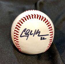 CLAYTON KERSHAW AUTOGRAPHED SIGNED O.L. BASEBALL L.A. DODGERS w/COA & BALL CUBE