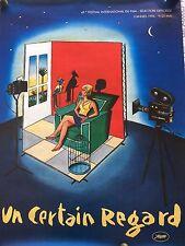 AFFICHE ORIGINALE 49 ème FESTIVAL DE CANNES 1996 - 60 x 80