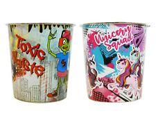 2x Waste Paper Bin Kids Girls Boys Children Bedroom Zombie Unicorn Design Home
