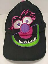 animal snap back hat disney the muppets baseball sun visor cap black neon pink