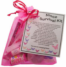 Niece Survival Kit - unique keepsake for your Niece. Fun novelty gift.