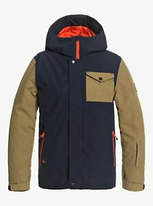 QUIKSILVER Youth RIDGE Snow 2021 Jacket - BYJ0 - Small/10 - NWT LAST ONE LEFT