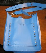 Rebecca Minkoff Small Unlined Leather Feed Bag, Blue NWOT!