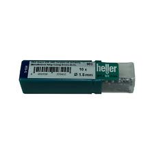 Heller 1.5mm HSS-G Long Series Super Twist Metal Drill Bits 10 Pack Ground HSS