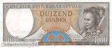 Suriname 1000 Gulden 1963 Unc pn 124