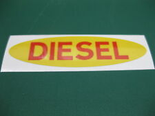 1 OVAL DIESEL FUEL STICKER IN YELLOW WITH RED TEXT