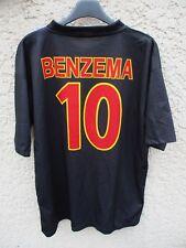 Maillot OLYMPIQUE LYONNAIS OL LYON BENZEMA n°10 vintage noir camiseta XL