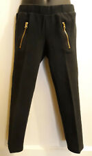 Black Stretch Pants w/Front Zippers by Crazy 8 - Size 5