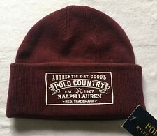 Polo Ralph Lauren Men's Country Logo Hat Classic Wine One Size NWT