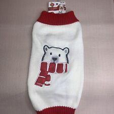 "NWT Christmas Holiday ""Polar"" Sweater For Dog Pet / Simply Dog / Medium"