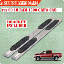 """For 09-18 DODGE Ram 1500 Crew Cab 4"""" Nerf Bar Side Step Running Boards Chrome A"""