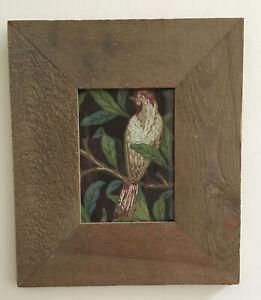 Framed print. William Morris Bird & Pomegranate. Reclaimed Frame 283 X 330 mm