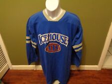 VINTAGE JERSEY STYLE IceHouse Beer T Shirt XL Plank Road Brewery  Bar LS