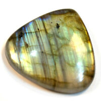 Cts. 43.55 Natural Full Line Fire Labradorite Cab Heart Cabochon Loose Gemstone