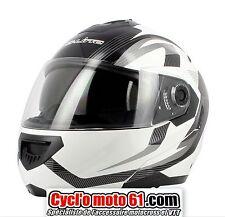 Casque Moto / Scooter Modulable S-line S520 Noir / Blanc M