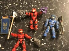3 Halo Mega Bloks Mini Figures CONVENANT ELITE COMBAT MINIFIGURES +STAFF WEAPONS